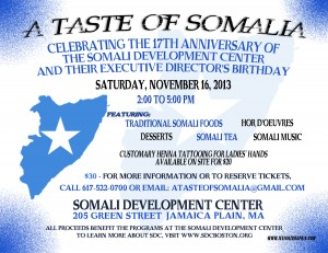 SDC 17th Anniversary – A Taste of Somalia